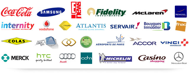 Clients After-Mouse.com : Internity, Vodafone, FNAIM, Atlantis, Servair, Bouygues Immobilier, Fnac, Colas, Groupe NewIm, Sofitel, Mojito Lab, Aéroports de Paris, Accor, Vinci, Merck, HTC, Audi, CDM, Michelin, Casino Shopping